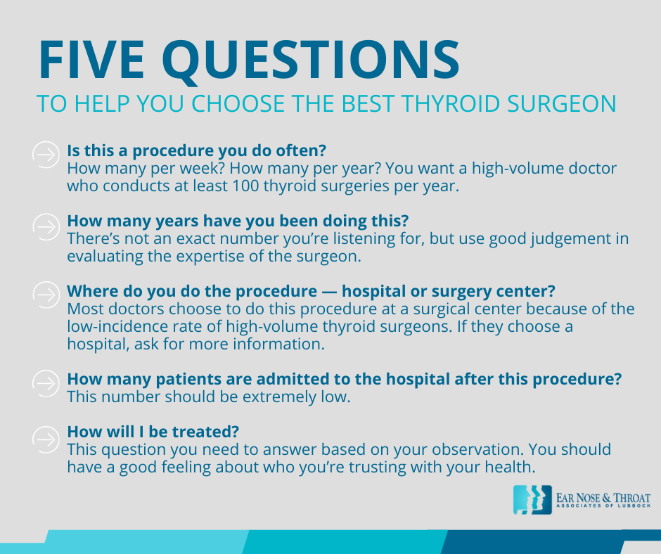 how to choose a thyroid surgeon