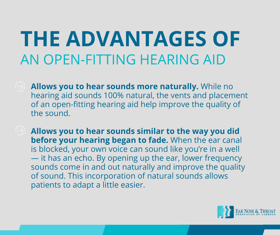 open fitting hearing aid