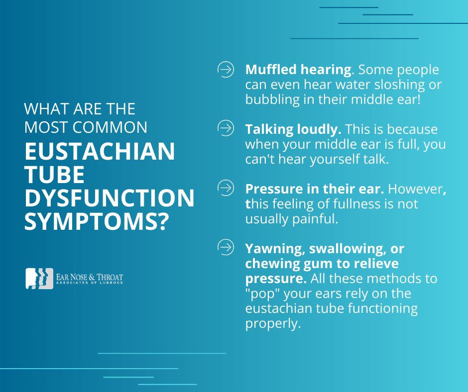 eustachian tube dysfunction symptoms